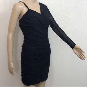 🆕 Zara Woman Body Con One Shoulder Dress Sz XS